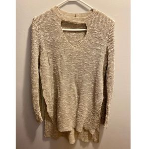 V-Neck sweater with cutout detail